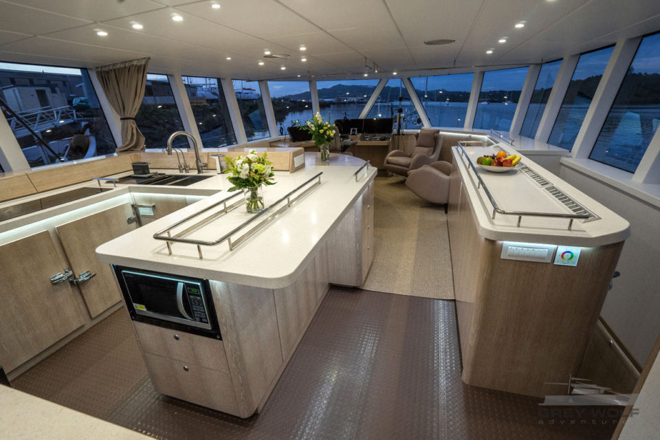 Grey Wolf Long Range Boat Charter Great Room Galley