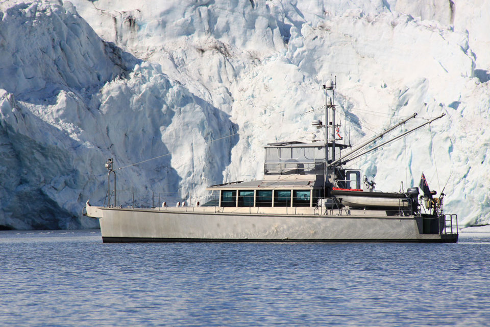 Private yacht, Grey Wolf, in Svalbard